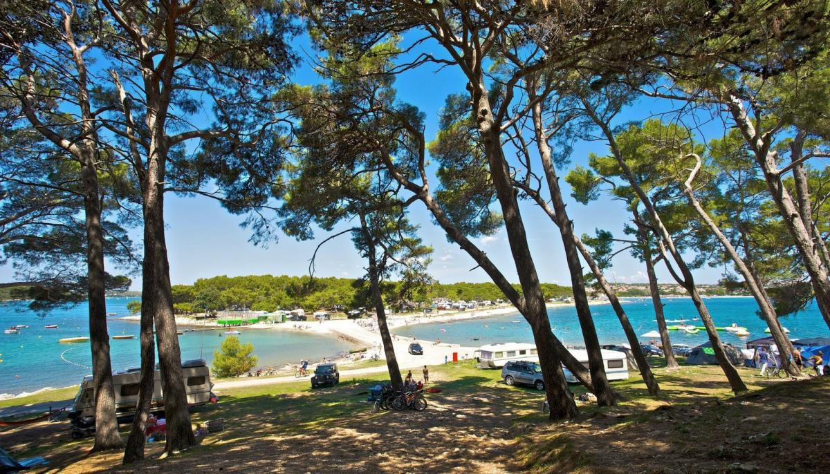 Campsites along the coast are located by the sea