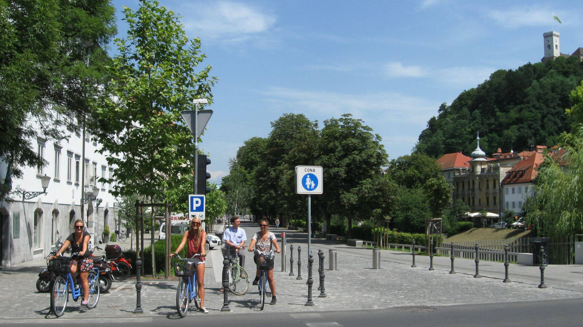 Bike tour in the city