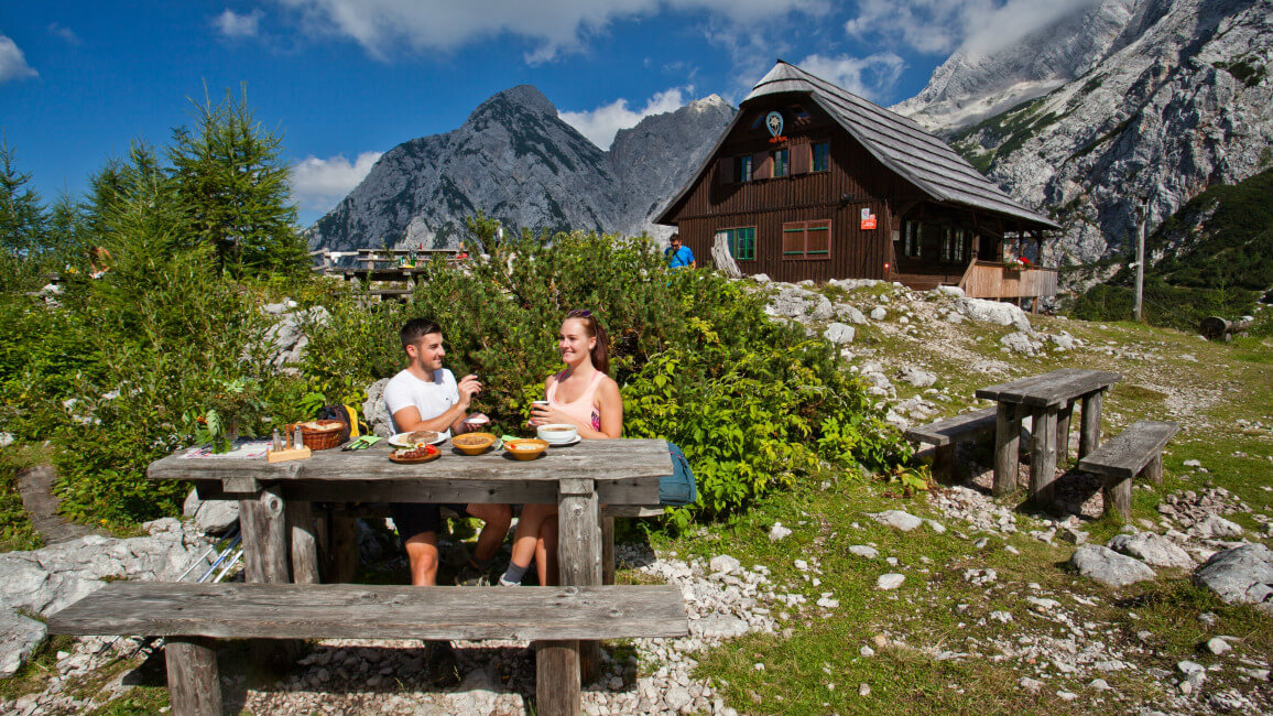 sleeping and eating in slovenian mountain huts hiking in slovenia