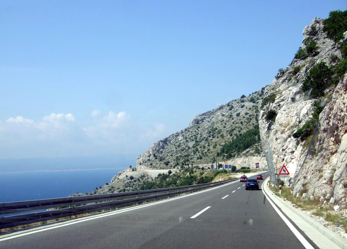 1726e24369 The Adriatic Highway (Jadranska magistrala) is a road that stretches along  the eastern coast of the Adriatic Sea.
