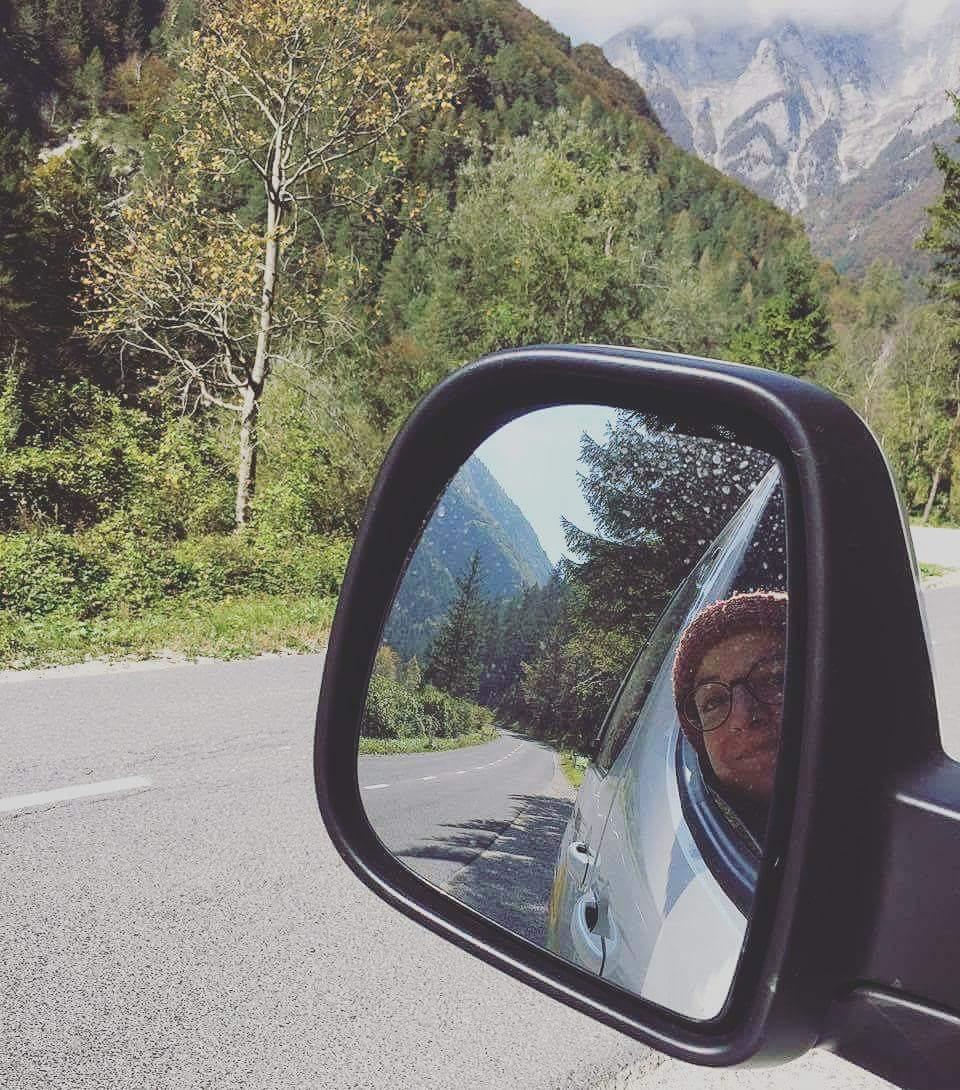Fliz and pip driving a campervan