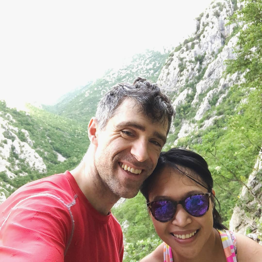 Rowena de Jesus and Eric Bluemn traveling with Nest Campers