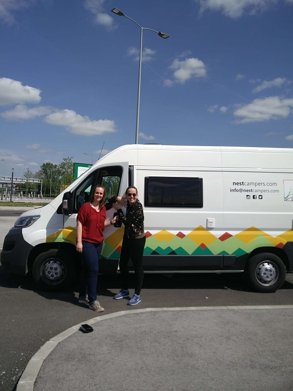 Stéphanie Muff and Barbara Staempfli on a road trip with a campervan