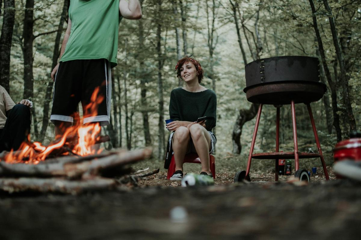 Campfire on a road trip with Nest Campers - best road trip in Europe