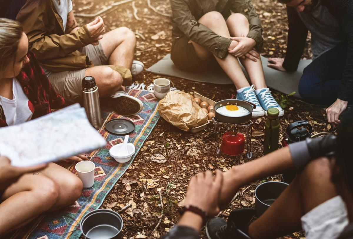 Camping trip with friends - stress free travel