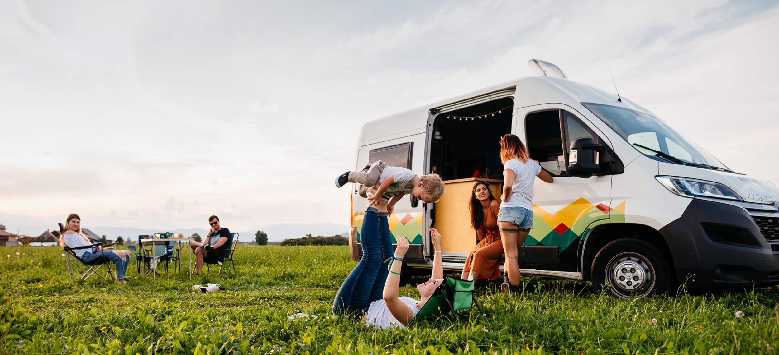Family road trip with a campervan