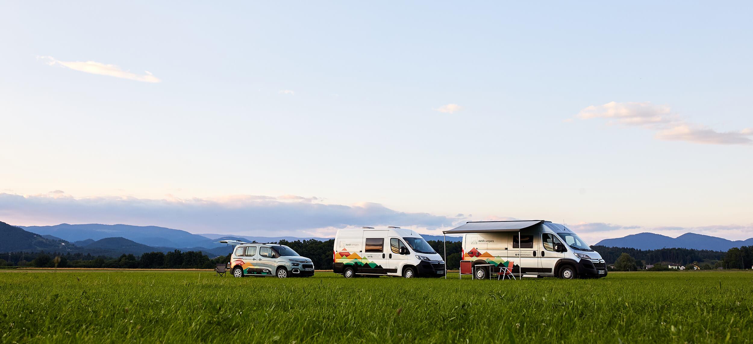 all campervans of NestCampers