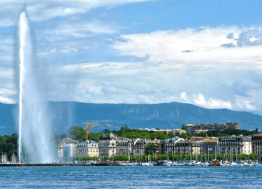 City and lake of Geneva