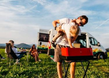 Family camping with Nestcampers campervan rental