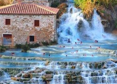 Hot pools in Tuscany, Italy road trip