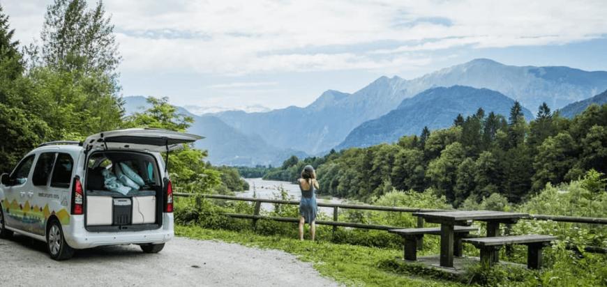 Slovenija, kampiranje, avtodom najem, Nestcampers, Cuckoo model