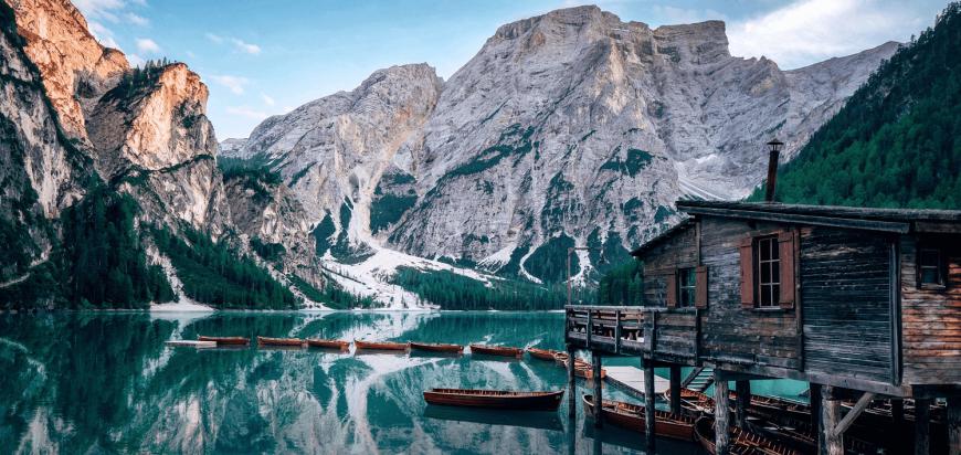 Campervan road trip in the Dolomites, Italy, lago di braies