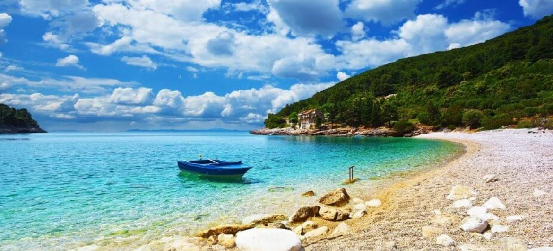Beautiful sea side scenary of Croatia