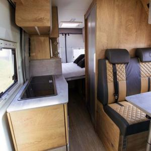 Inside look at the interior of campervan Falcon