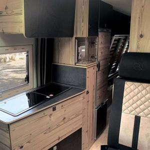 Living place of campervan Falcon