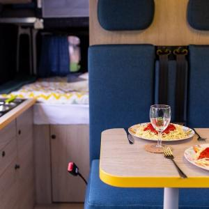 Dinner in Campervan