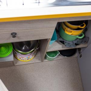 Stork Campervan Interior cooking equipment