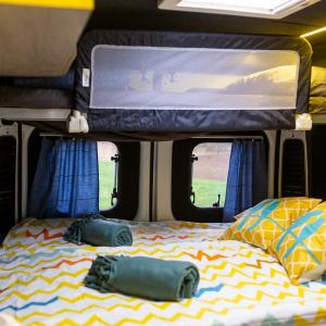 Bedroom of campervan stork