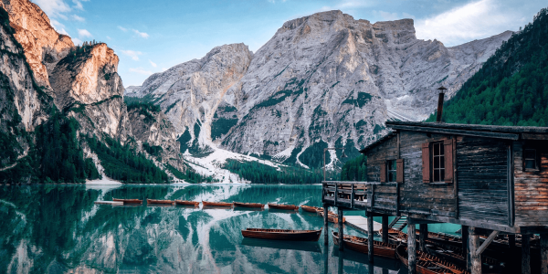 Campervan road trip in the Dolomites, Italy, lago di braies