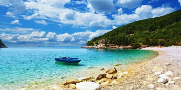 Beautiful sea side scenary of Croatia