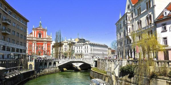 Ljubljana, a capital of Slovenia, where you can pick up your campervan.
