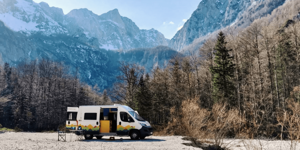 Nest Campers camping in Slovenia, campervan Europe