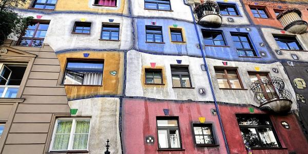 A famous Hundertwasser house in Vienna is worth to see!