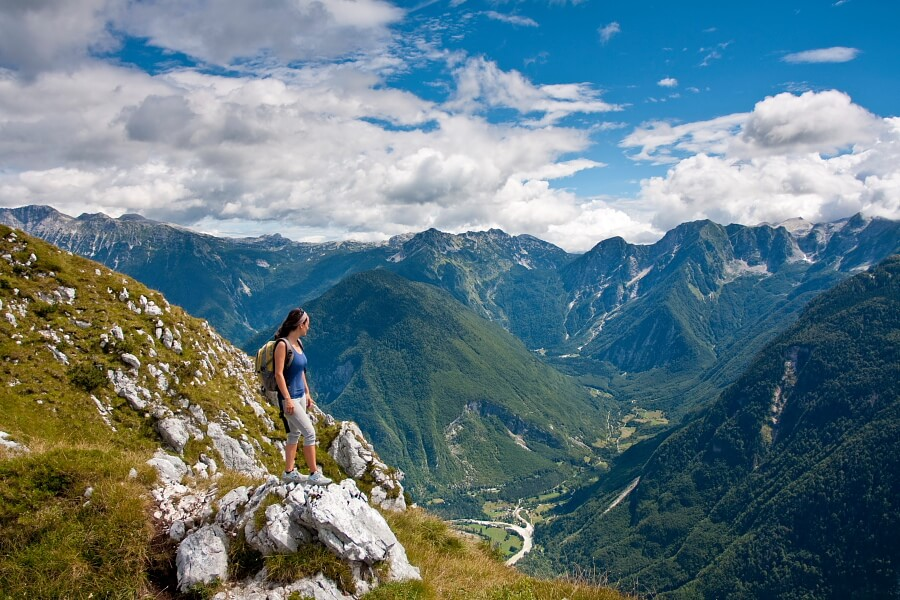 Svinjak hiking, easy hike from Bovec, hiking in Slovenia, road trip Slovenia
